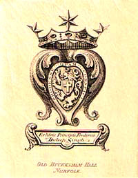 Bookplate of Prince Frederick Duleep Singh, c.1900