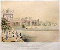 The Tank at Amritsar, Coloured Lithograph, 1847, by 'A Lady'
